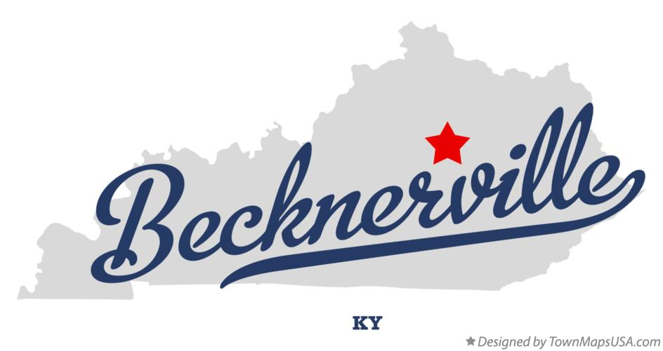 Map of Becknerville Kentucky KY
