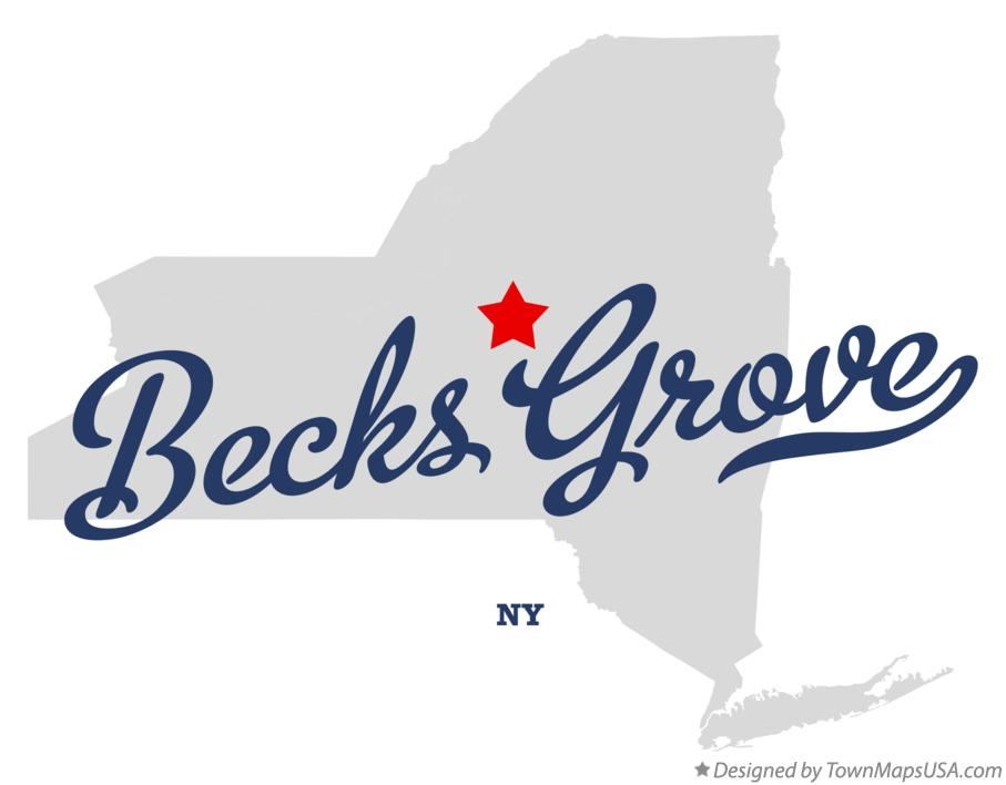 Map of Becks Grove New York NY