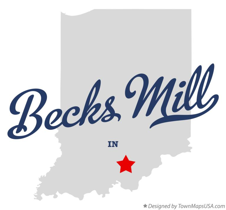Map of Becks Mill Indiana IN