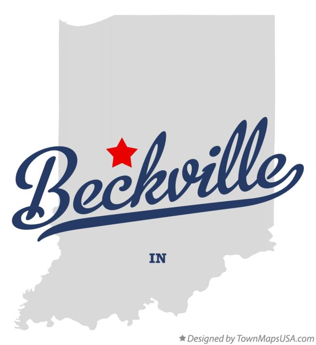 Map of Beckville Indiana IN