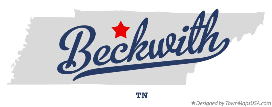 Map of Beckwith Tennessee TN