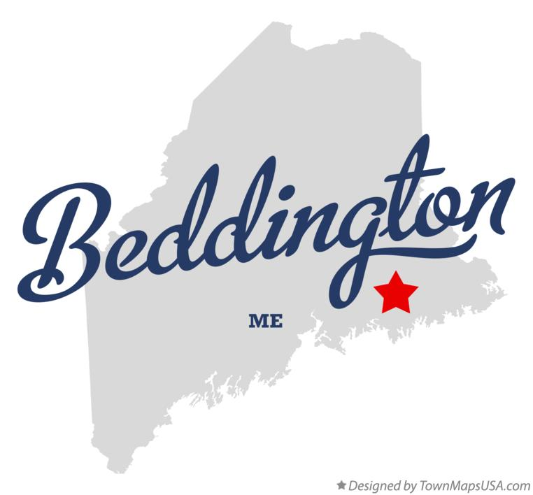 Map of Beddington Maine ME