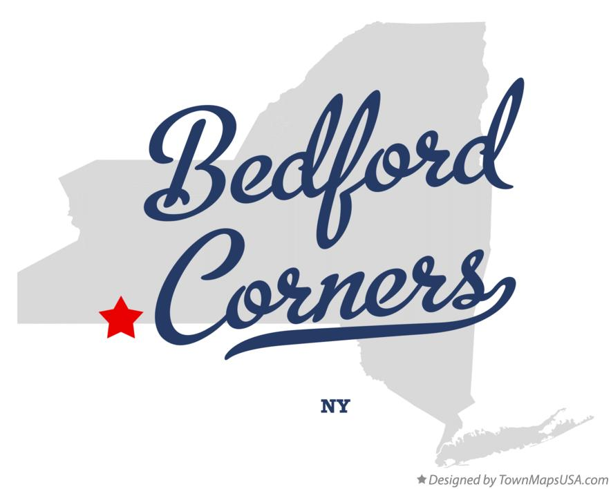 Map of Bedford Corners New York NY