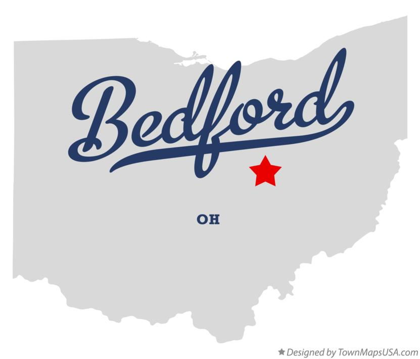 Map of Bedford Ohio OH