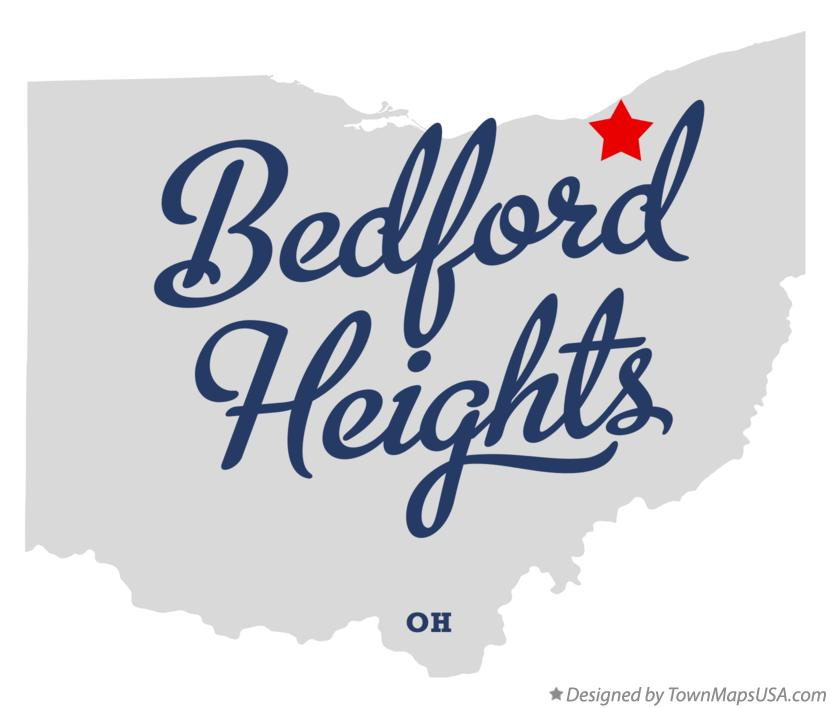 Map of Bedford Heights Ohio OH