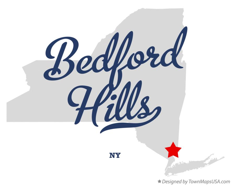 Map of Bedford Hills New York NY