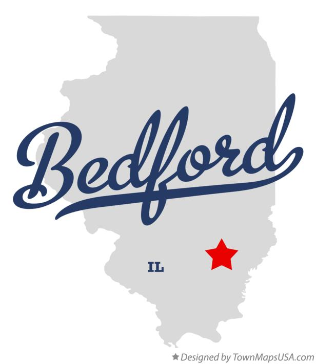 Map of Bedford Illinois IL