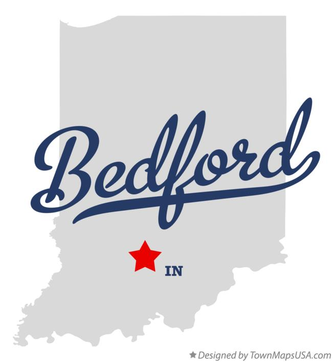 Map of Bedford Indiana IN