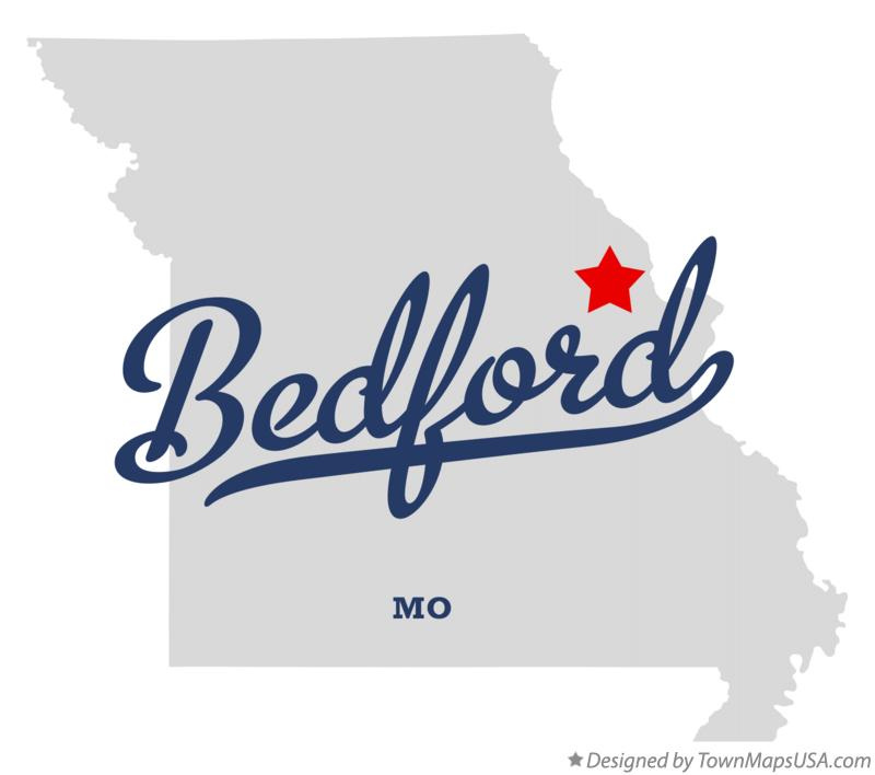 Map of Bedford Missouri MO
