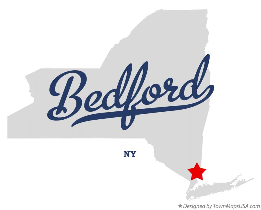 Map of Bedford New York NY