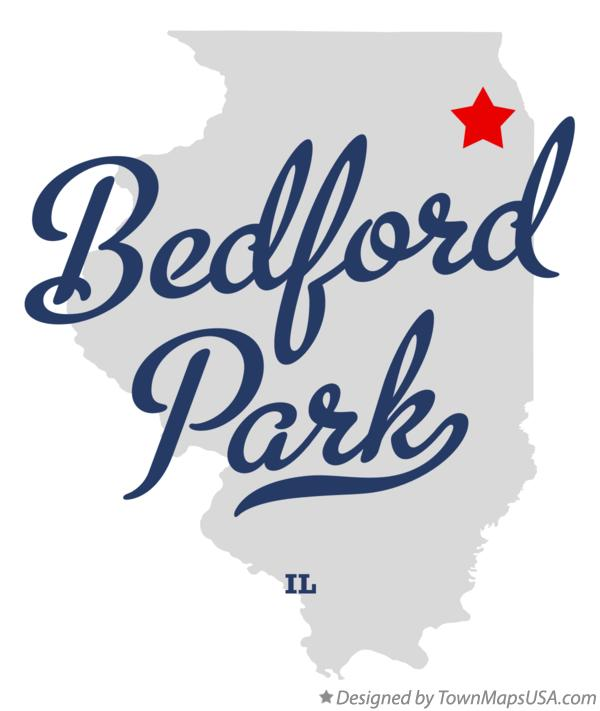 Map of Bedford Park Illinois IL