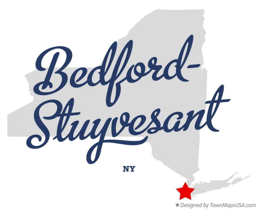 Map of Bedford–Stuyvesant New York NY