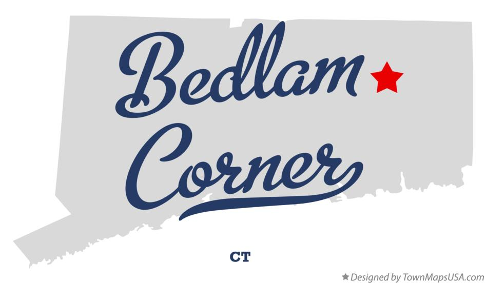 Map of Bedlam Corner Connecticut CT