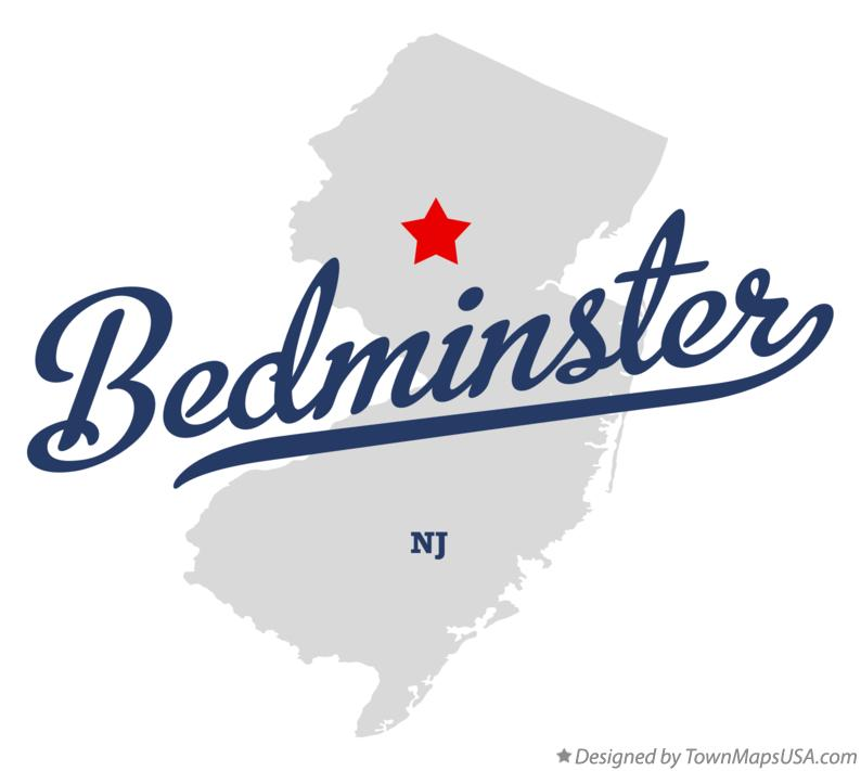 Map of Bedminster New Jersey NJ
