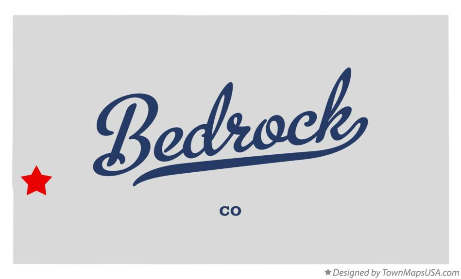 Map of Bedrock Colorado CO