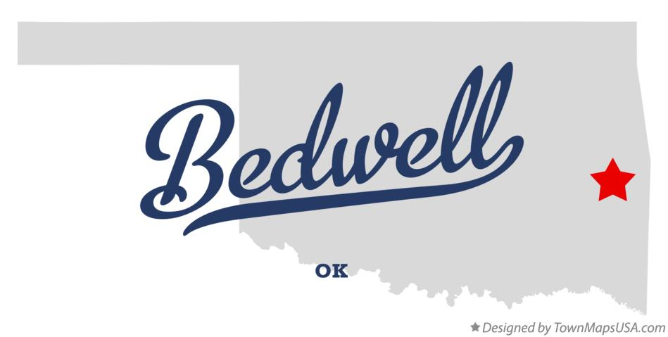 Map of Bedwell Oklahoma OK