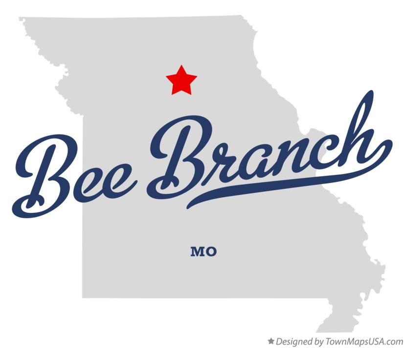 Map of Bee Branch Missouri MO
