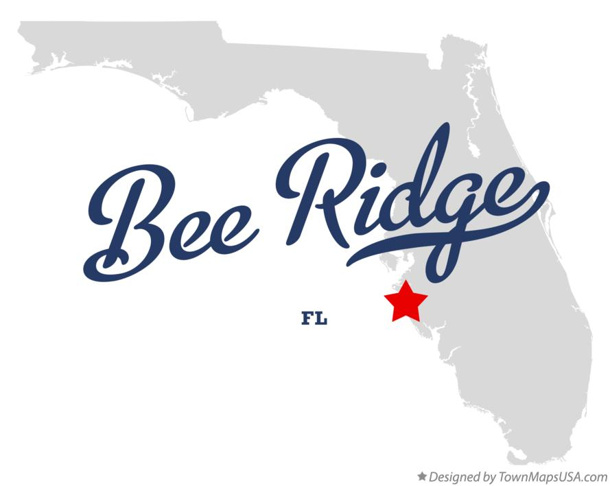 Map of Bee Ridge Florida FL