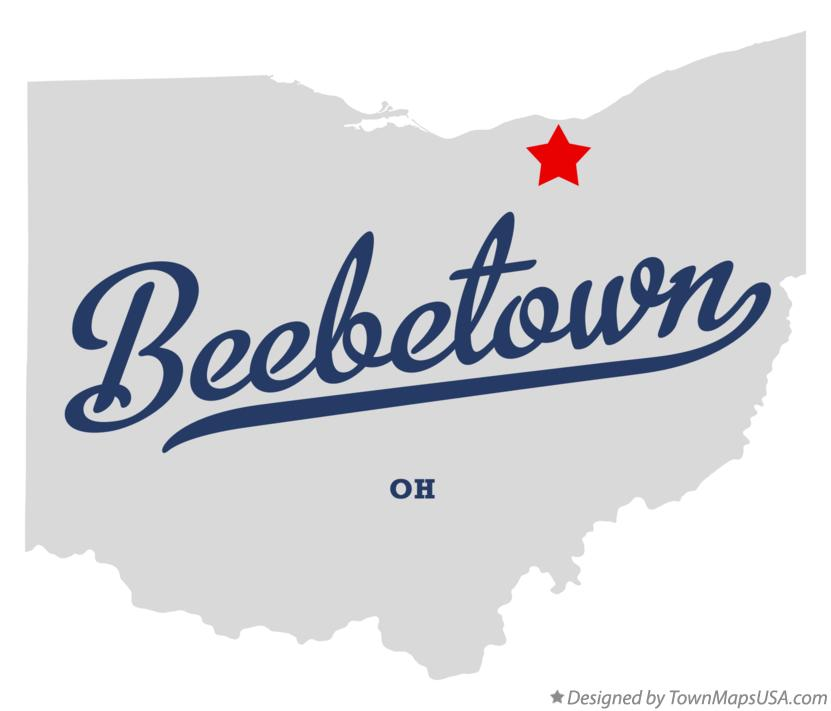 Map of Beebetown Ohio OH