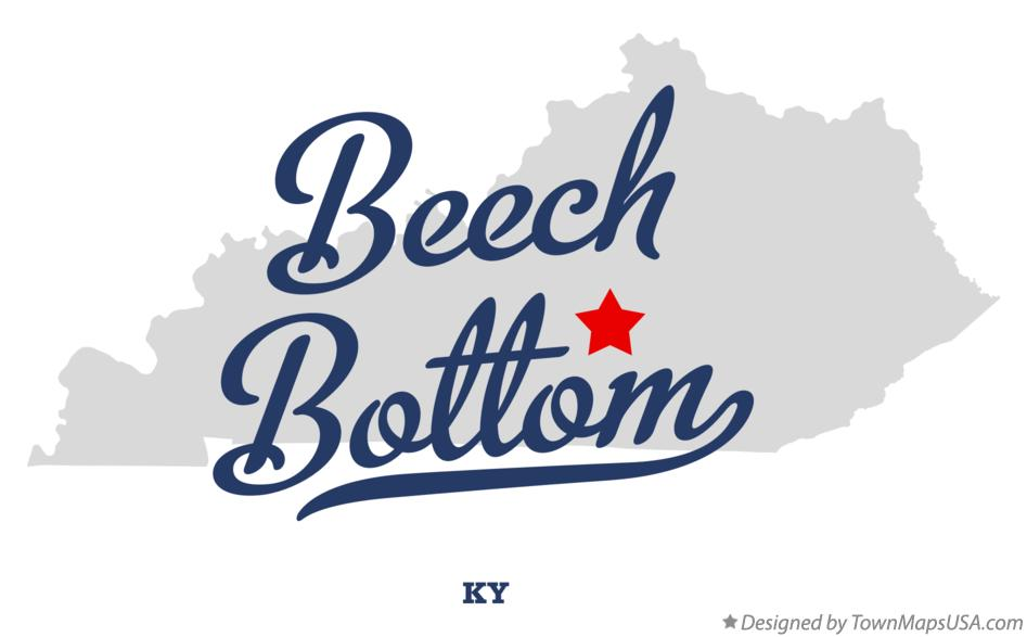 Map of Beech Bottom Kentucky KY