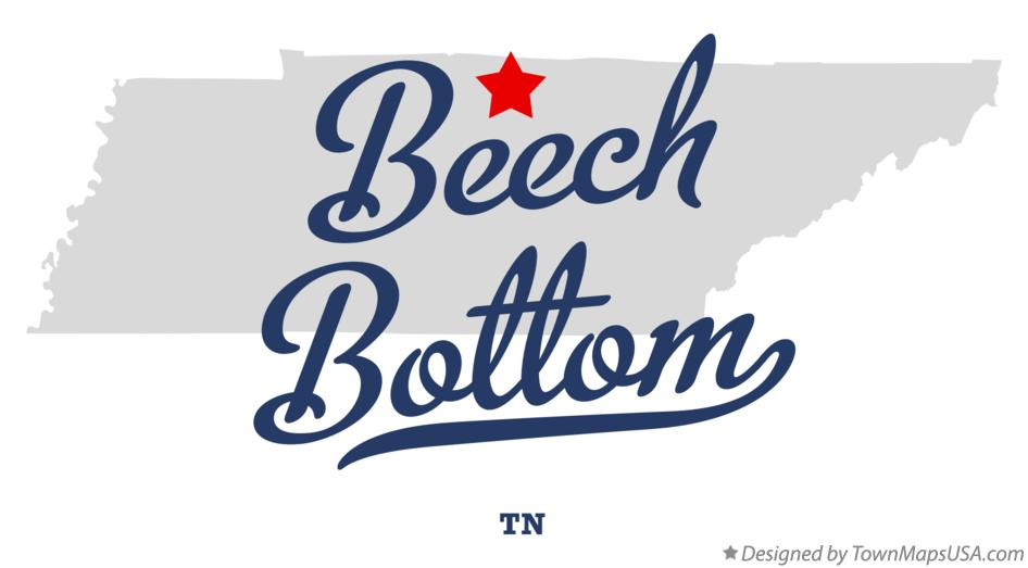 Map of Beech Bottom Tennessee TN