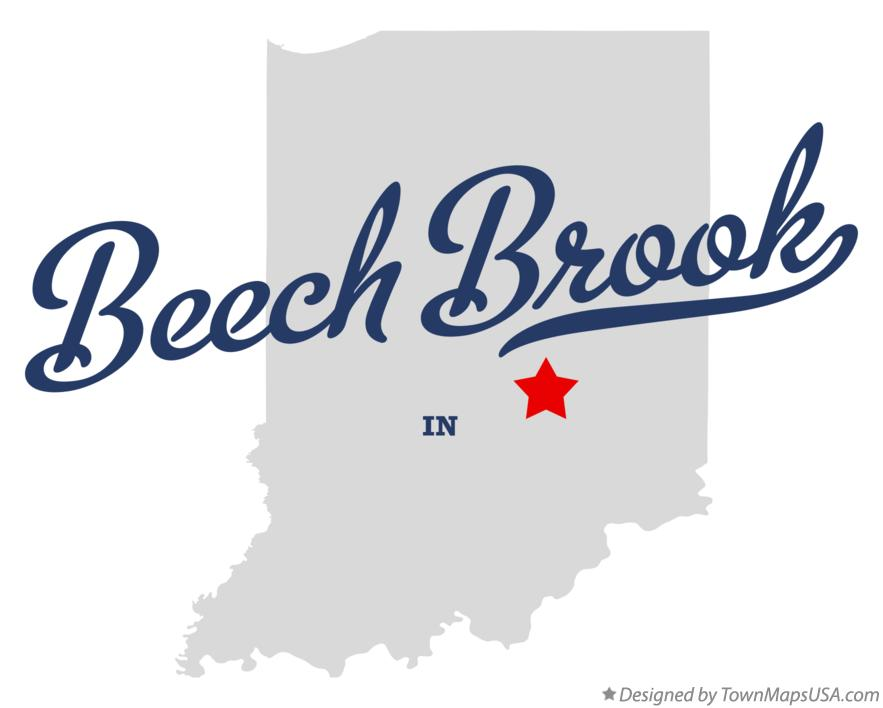 Map of Beech Brook Indiana IN