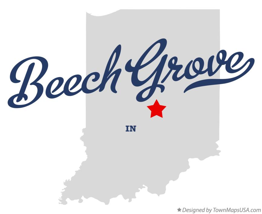 Map of Beech Grove Indiana IN
