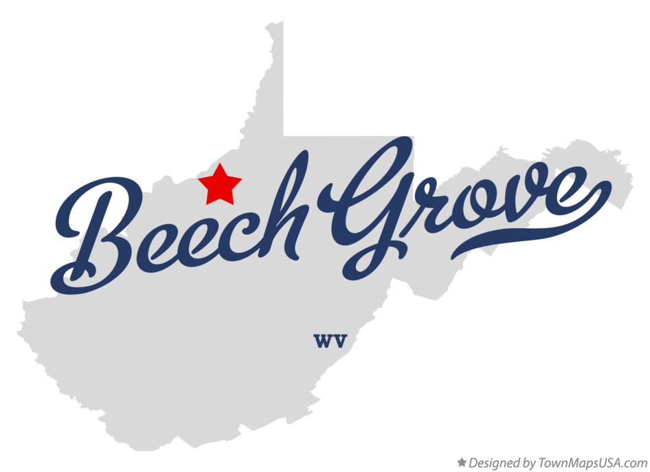 Map of Beech Grove West Virginia WV
