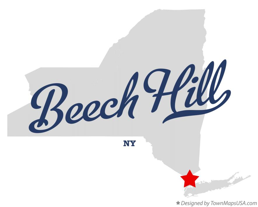 Map of Beech Hill New York NY