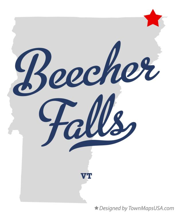 Map of Beecher Falls Vermont VT
