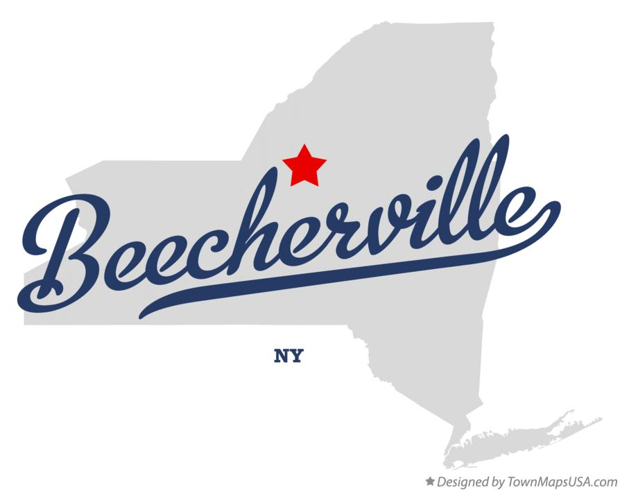 Map of Beecherville New York NY