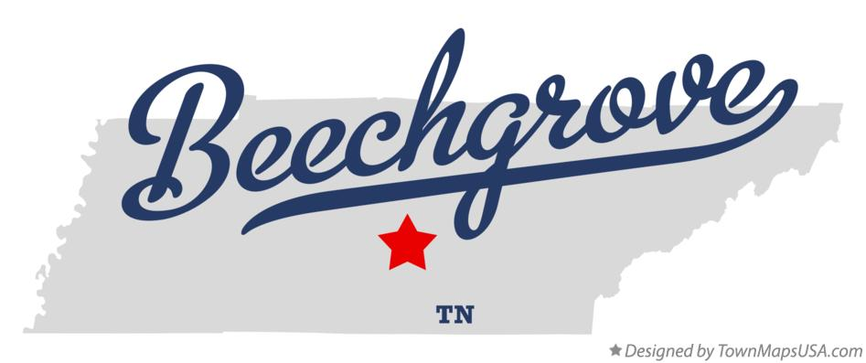 Map of Beechgrove Tennessee TN