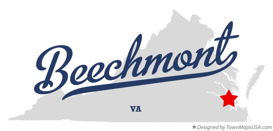 Map of Beechmont Virginia VA