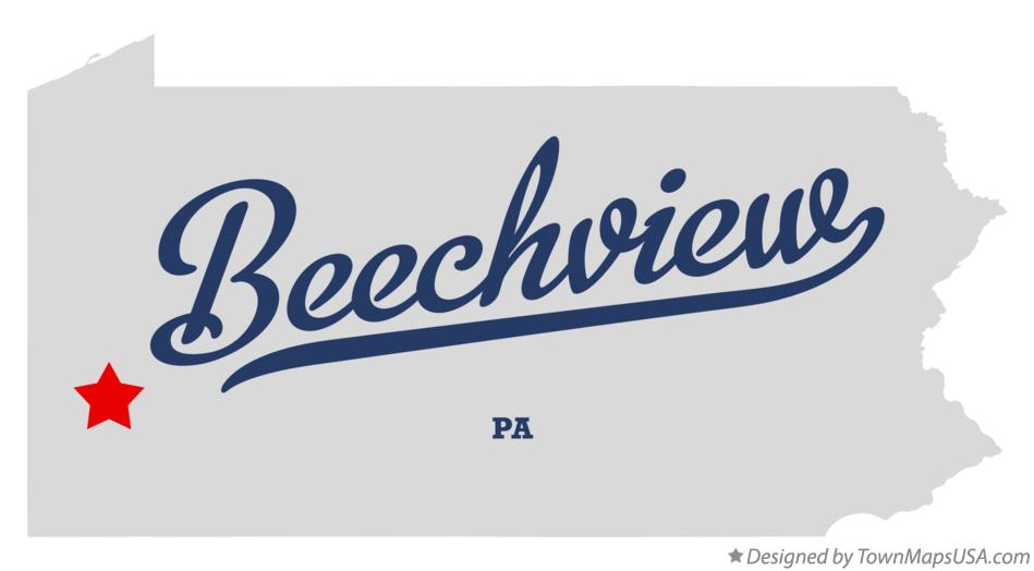 Map of Beechview Pennsylvania PA