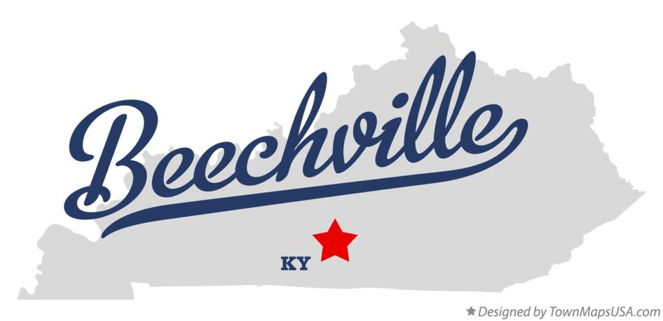Map of Beechville Kentucky KY