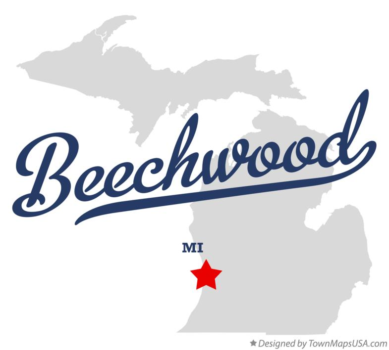 Map of Beechwood Michigan MI
