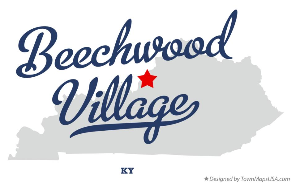 Map of Beechwood Village Kentucky KY