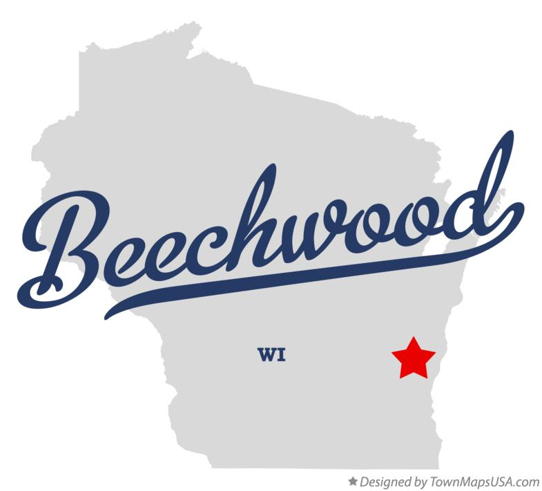 Map of Beechwood Wisconsin WI