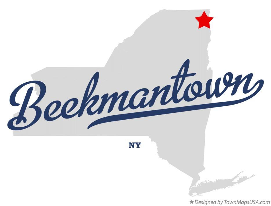 Map of Beekmantown New York NY