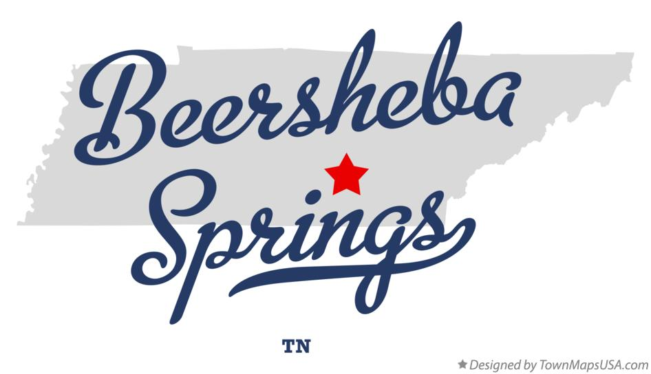 Map of Beersheba Springs Tennessee TN