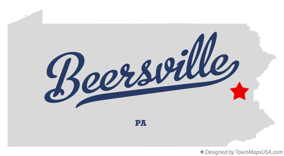Map of Beersville Pennsylvania PA