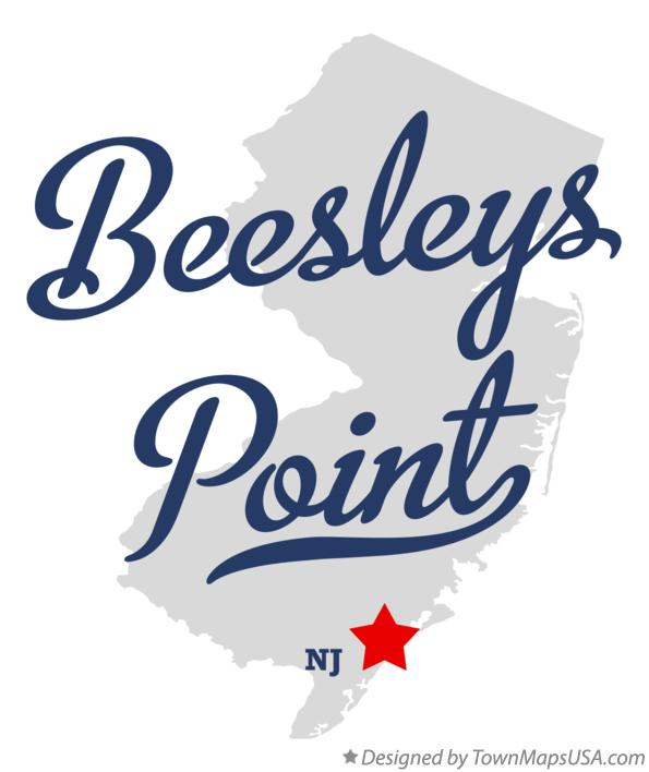 Map of Beesleys Point New Jersey NJ