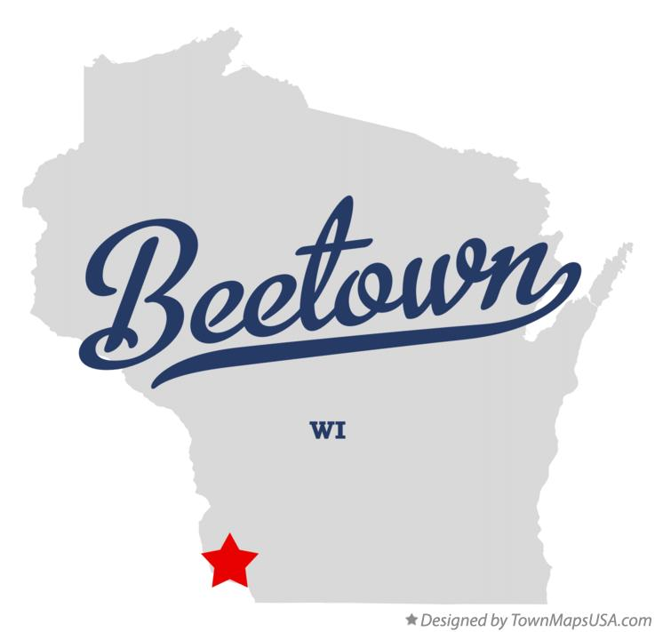 Map of Beetown Wisconsin WI