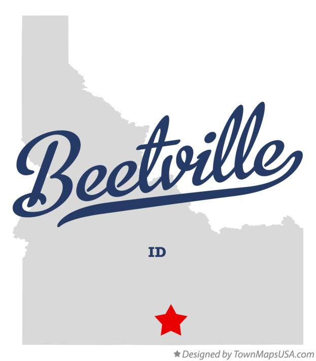 Map of Beetville Idaho ID