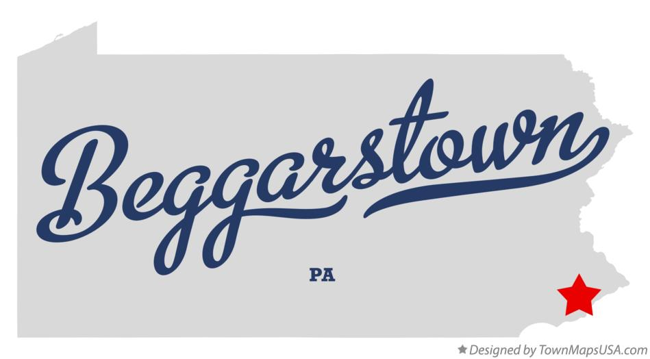 Map of Beggarstown Pennsylvania PA