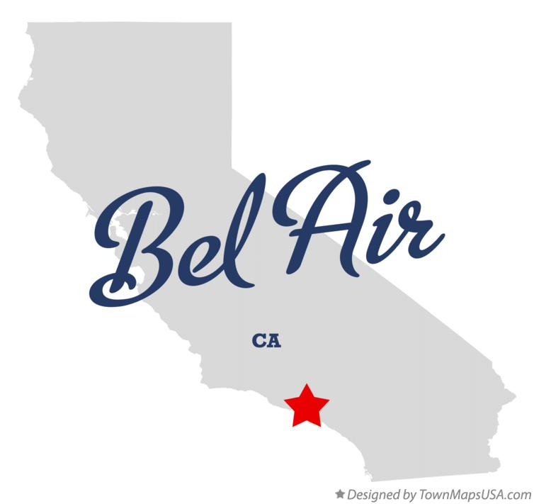 Map of Bel Air, CA, California