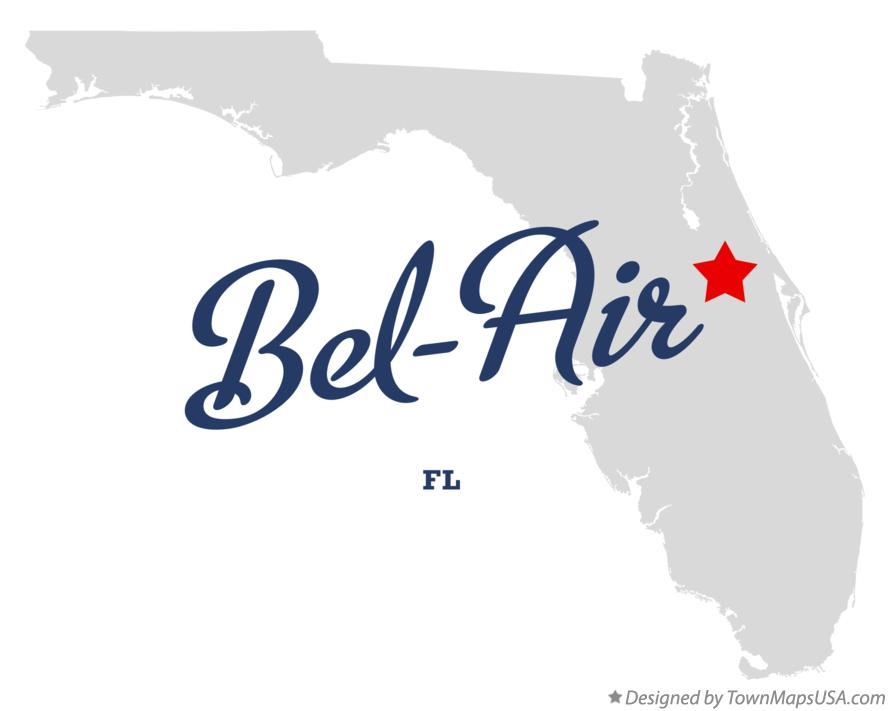 Map of Bel-Air Florida FL