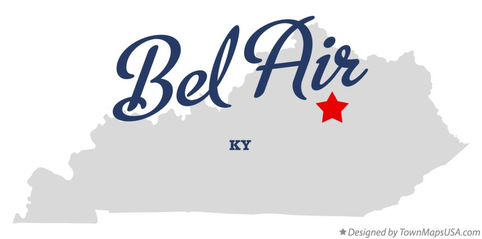 Map of Bel Air Kentucky KY