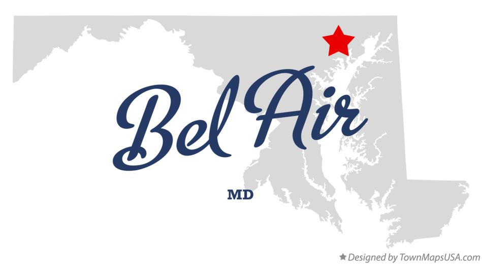 Map of Bel Air Maryland MD