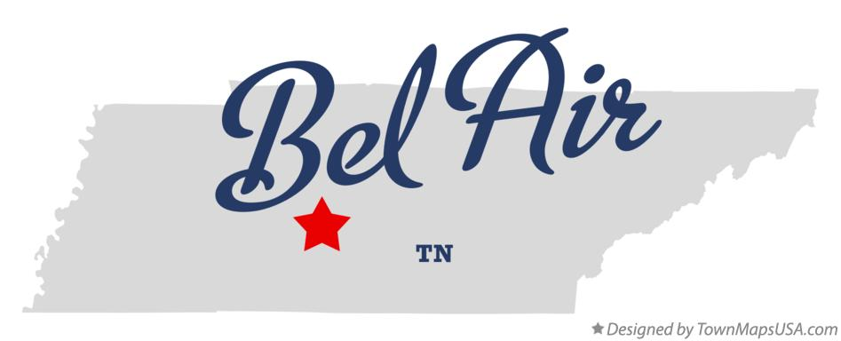 Map of Bel Air Tennessee TN